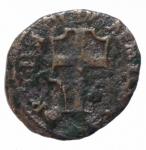 obverse: Zecche Italiane. Reggio Emilia. Leone X. 1513-1521. Bagattino. AE.Peso 2,09 gr. Bell1/F. BB. R.___