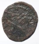 reverse: Zecche Italiane. Reggio Emilia. Leone X. 1513-1521. Bagattino. AE.Peso 2,09 gr. Bell1/F. BB. R.___
