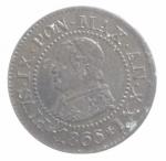 obverse: Zecche Italiane.Roma. Pio IX (846-1870) Centesimo 1866 A. XXI. AE, Pag. 608. qFDC.ççç