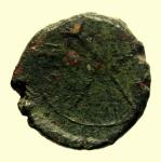 reverse: Mondo Greco. Sicilia. Menainon. 200-100 a.C. AE : D\ Busto velato di Demetra a destra. R\ MENA-INΩN due torce incrociate, sotto quattro aste verticali. CNS III, n. 4; SNG ANS. Peso 4,5 gr. Diametro 17 mm. qSPL/MB+.