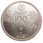D/ Estere - Spagna. 100 Pesetas 1980. FDC