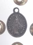 reverse: Medaglie.Roma.Pio IX .Ar.Medaglietta devozionale.PIO IX PON MAX O ROMAE R\Maria per Noi Pregate.SPL.gf