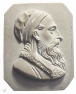 obverse: Medaglie.Cameo pietra lavica. Prima metà del XX secolo.Busto maschile.gf