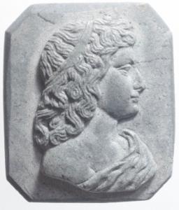 obverse: Medaglie.Cameo pietra lavica. Prima metà del XX secolo.Busto femminile.gf