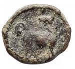 R/ Varie - Mondo Greco. Oncia in Ae da catalogare. Zeus/Cane. gr 1,1. mm 13,04 x 11,3.