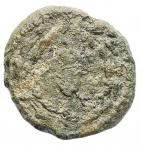 R/ Varie - Mondo Greco. Ae. Enna. d/ Hermes a ds. davanti etnico. r/ Grappolo d'uva entro corona. gr 1,55. mm 14,66. qBB/MB-qBB. Patina verde. RR