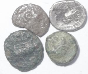 obverse: Lotti.Mondo Greco.Lotto 4 monete tra cui 2 in argento, mediamente MB.___