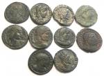 obverse: Lotti. Lotto di 10 bronzetti basso impero. Mediamente BB.