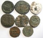reverse: Lotti. Lotto di otto monete impero romano. Notato un denario di Adriano ed uno di Sabina, ambedue suberati. Mediamente MB.