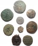 reverse: Lotti - Evo Antico. Lotto di 9 pezzi in Ae Inclusi sesterzi di Massimino I e Gordiano Pio