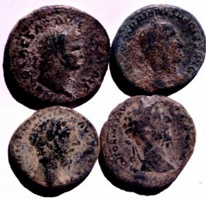 obverse: Lotti.Impero Romano.Lotto di 4 Assi tra cui Nerone,Marco Aurelio 2, Traiano Decio.Mediamente BB.w
