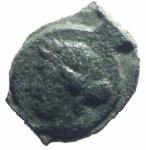 obverse: Monete Celtiche. Gallia Narbonese. Massalia. 121 -49 Sec. a.C. Ae. D/ Testa di Apollo a destra. R/ Toro cozzante verso destra MAΣ. Peso 2,55 gr. Diametro 13,00 mm. BB.