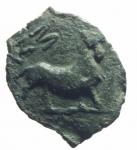 reverse: Monete Celtiche. Gallia Narbonese. Massalia. 121 -49 Sec. a.C. Ae. D/ Testa di Apollo a destra. R/ Toro cozzante verso destra MAΣ. Peso 2,55 gr. Diametro 13,00 mm. BB.