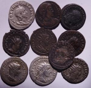 obverse: Lotti.Impero Romano.Lotto di 10 antoniniani da Gordiano III a Decenzio,mediamente BB.w