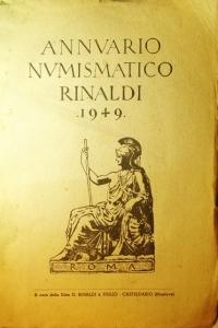 D/ Libri.Annuario Numismatico Rinaldi 1949.A cura della ditta O.Rinaldi e Figlio.Casteldario Mantova.Buona Conservazione