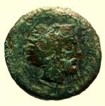 D/ Mondo Greco. Sicilia. Solus. 400-350 a.C. : Tetras. D\ Testa di Eracle verso destra. R\ KFR Gambero con tre dot. Calciati 7. Peso 3,8 gr. Diametro 18 mm. qBB. R.
