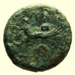 R/ Mondo Greco. Sicilia. Solus. 400-350 a.C. : Tetras. D\ Testa di Eracle verso destra. R\ KFR Gambero con tre dot. Calciati 7. Peso 3,8 gr. Diametro 18 mm. qBB. R.