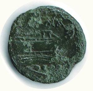 R/ ROMA - Repubblica (211 a.C.) - Triente; D/ Testa elmata di Minerva a d., sopra, 4 bisanti; R/ Prua di nave, sotto, 4 bisanti - Patina verde - Crawford 56/4. - - Ae - MB