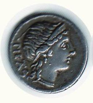 D/ Roma - Herennia (108 a.C.);. D/ Testa della pietà; R/ Amfimone che trasporporta il fratello. SPL/BB+
