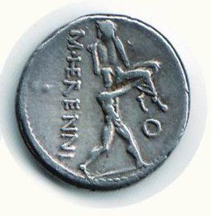 R/ Roma - Herennia (108 a.C.);. D/ Testa della pietà; R/ Amfimone che trasporporta il fratello. SPL/BB+