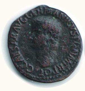 D/ ROMA Caligola (37/41) -  Asse: D/Testa nuda a s.; R/Vesta assisa a s. con patera e scettro - Cohen..... R - Ae - q.BB