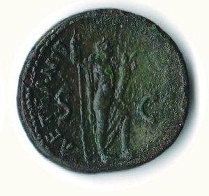 R/ TITO (79-81) - Asse - consolato VIII; D/ Busto laur. a s.; R/ L'eternità a d. con scettro e cornucopia - Patina verde - Cohen 11. NC - Ac - BB+