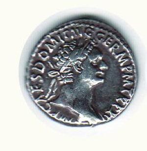 D/ ROMA DOMIZIANO (81-96) - Denario: D/Busto laur. a d.; R/Giunone stante a s. con scettro. AR - BB