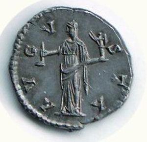 R/ FAUSTINA MADRE moglie di A. Pio - Denario -patina di vecchia collezione: D/Busto di F. a d.; R/Vesta velata a s. con simpulum e palladium. Cohen 108. AR - q.FDC