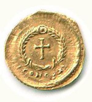 R/ Roma - Eudossia (moglie di Teodosio II) - Tremisse Zecca Costantinopoli - RIC 253. SPL