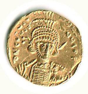 D/ Roma - Costantino IV-Eraclio-Tiberio (668-680) - Solido; D/ Busto coronato di Costantino IV; R/ Eraclio e Tiberio su scala a tre gradini tra una lunga croce - Provenienza - Crippa. R - SPL+