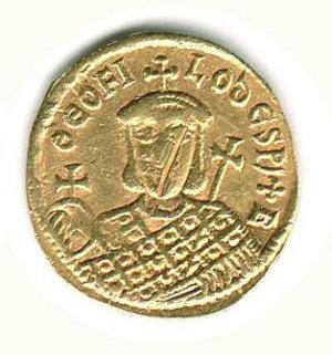 R/ Roma - Michele II (820-829) con Teofilo - Solido; D/ Michele II; R/ Teofilo - Sear 1640. R - q.SPL/BB+