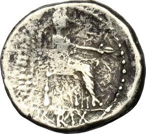 reverse: M. Porcius Cato.. AR Quinarius, 89 BC