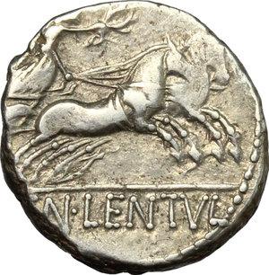 reverse: Cn. Cornelius Lentulus Clodianus.. AR Denarius, 88 BC