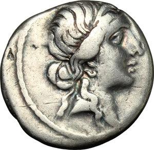obverse: Julius Caesar.. AR Denarius, Africa mint, 47-46 BC