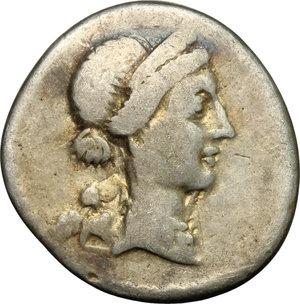 obverse: Julius Caesar.. AR Denarius, Hispania mint, 46-45 BC