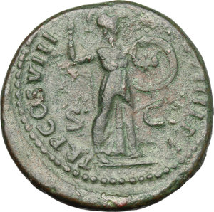 reverse: Domitian (81-96).. AE As, 82 AD