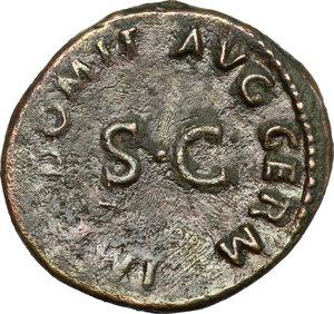 reverse: Domitian (81-96).. AE Quadrans, 84-85