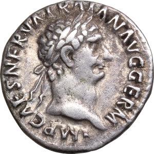 obverse: Trajan (98-117).. AR Denarius, 98-99