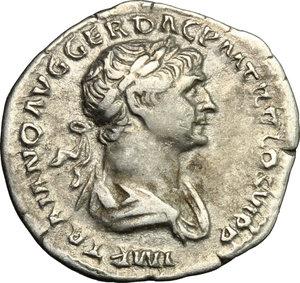 obverse: Trajan (98-117).. AR Denarius, 113-114