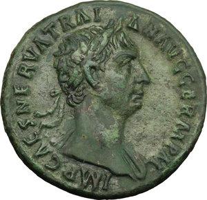 obverse: Trajan (98-117).. AE As, 98-99