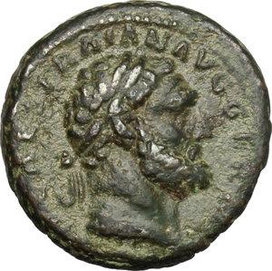 obverse: Trajan (98-117).. AE Quadrans, 114-117