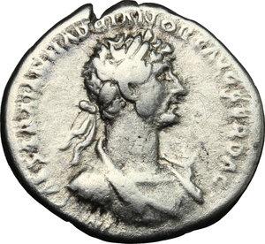 obverse: Hadrian (117-138).. AR Denarius, 117 AD