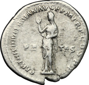 reverse: Hadrian (117-138).. AR Denarius, 117 AD