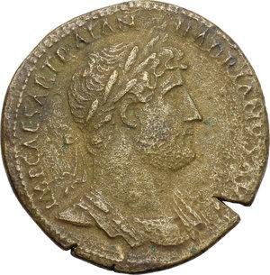 obverse: Hadrian (117-138).. AE Sestertius, 121-122