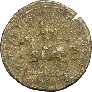 reverse: Hadrian (117-138).. AE Sestertius, 121-122