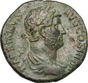 obverse: Hadrian (117-138).. AE Dupondius, 134-138
