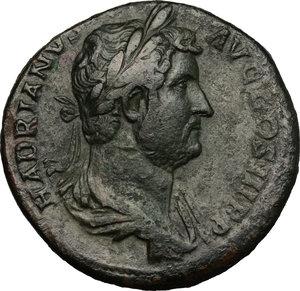 obverse: Hadrian (117-138).. AE Sestertius, 134-138