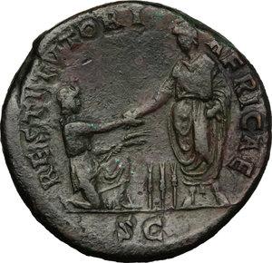 reverse: Hadrian (117-138).. AE Sestertius, 134-138