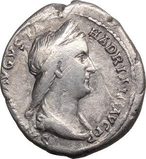 obverse: Sabina, wife of Hadrian (died 137 AD).. AR Denarius, 128-136