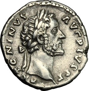 obverse: Antoninus Pius (138-161).. AR Denarius, 145-161